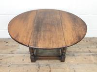 Small Antique Oak Drop Leaf Table (2 of 8)