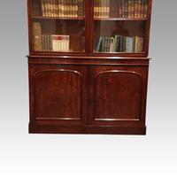 Victorian mahogany library bookcase (6 of 11)