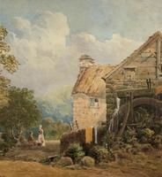 William Charles Goddard (exh.1885) Stunning Country Watermill Landscape Painting (8 of 15)