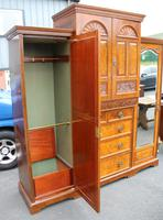 1900's Large Well Fitted Burr Walnut Compactum Wardrobe (4 of 7)