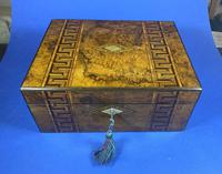 Victorian Burr Walnut  Box With Tunbridge Ware Inlay. (12 of 12)