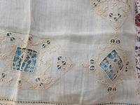2 Small Pieces of Antique European Linen, Italian Figural Reticella + 2nd in Madeira work. (4 of 7)