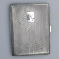 Good & Large Solid Silver Engine Turned Cigarette Case c.1963