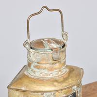 Pair of Original Victorian Brass Ship Lanterns (2 of 6)
