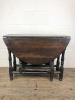 Antique 19th Century Small Oak Gateleg Table (6 of 8)