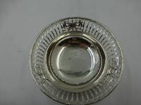 Antique Pierced Silver Dish Sheffield 1917 (3 of 7)