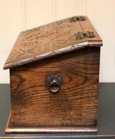 Solid Oak Carved Box (7 of 8)