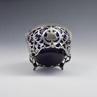 Pretty Edwardian Pierced Silver Sugar Basket (9 of 9)