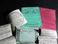 Collection Of Original Edwardian Chemist Labels relating to Ross on Wye Herefordshire