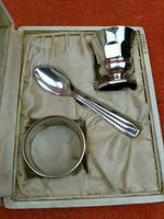 Vintage Cased French Silver Plated Christening Set, D. Cregut of Paris France (4 of 9)