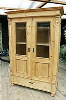 Fabulous Old Pine 'Knock Down' Glazed Display Cabinet (5 of 10)