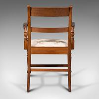 Set of 4, Antique Dining Chairs, English, Mahogany, Pair Of Carvers, Regency (5 of 12)