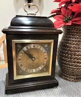 Outstanding-Quality English Bracket Clock by F.W. Elliott, Signed by Royal Retailer Garrard & Co Ltd.