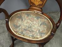 George III Style Inlaid Mahogany Side Chair (4 of 9)