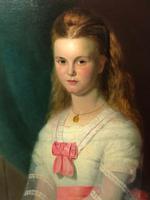 Huge 19th Century Young Fine Scottish Girl Portrait Matthias Robinson 1856-1895 (28 of 37)