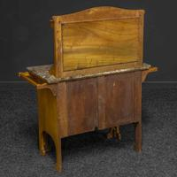 Arts & Crafts Oak Washstand with Marble Top (9 of 14)
