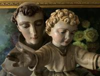 Bohumil Kafka RARE Carved Statue Sculpture St Anthony & Jesus (5 of 32)