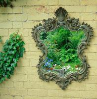 Solid Oak Hand Painted French Mirror (5 of 7)