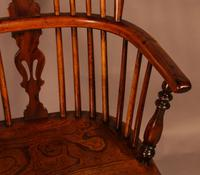 Good High Back Windsor Chair c.1840 (7 of 11)