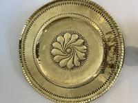 Large Antique Circular Brass Alms Dish (5 of 6)
