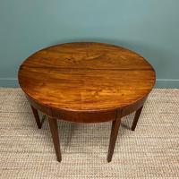 Georgian Mahogany Demi Lune Tea Table / Console Table (5 of 5)