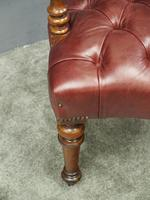 Victorian Walnut and Leather Office Chair (7 of 10)