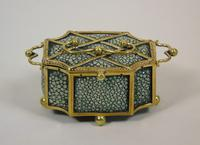 Fine Antique Shagreen Jewellery / Ring Trinket Box (6 of 9)