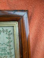 """Large Antique Needlework Sampler 1837 Elizabeth Starkey. in Frame 20"""" x 20"""" (8 of 12)"""