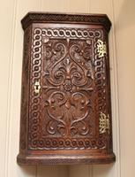 Mid 19th Century Carved Oak Corner Wall Cabinet (7 of 8)