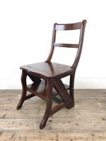 Mahogany Metamorphic Library Chair Steps (3 of 10)