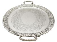 Sterling Silver Tea Tray by Mappin & Webb Ltd - Antique Victorian 1894 (3 of 12)