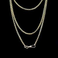 Antique Victorian 9ct 9K Gold Belcher Guard Muff Chain Necklace (2 of 9)