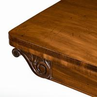 Companion Pair of William IV Flame Mahogany Card Tables (5 of 13)