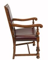 Set of Oak Dining Chairs English Antique Farmhouse Furniture (9 of 13)