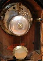 Small Victorian Burr Walnut Mantel Clock (6 of 10)