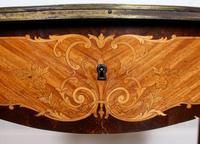 Serpentine Writing Table Louis XVI Style Inlaid Kingwood (15 of 19)