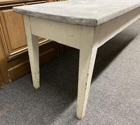 Large 19th Century French Zinc Top Table (9 of 13)