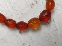 Antique Graduated Faceted Amber Beads Necklace 26 gr for Spare or re Stringing (10 of 11)