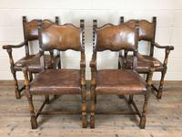 Set of Four Antique Leather Armchairs (15 of 16)