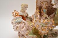 Antique Italian Capodimonte Porcelain Table Lamp (5 of 11)