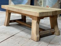 French or Scandinavian Bleached Oak Coffee Table (6 of 15)