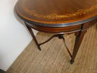 Edwardian Inlaid Round Side Table (5 of 7)