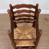 6 Oak Elm Rushwork Country Dining Chairs (5 of 10)