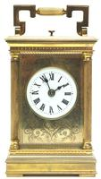 Fine French Repeat Carriage Clock with Foliate Carved Decoration By Charles Frodsham London (12 of 12)