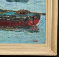 Marion Coker Leigh on Sea Fishing Boats Seascape Sailing Oil Painting (4 of 15)
