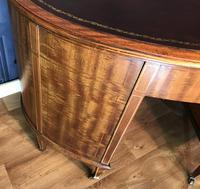 Edwardian Inlaid Mahogany Kidney Shaped Desk (20 of 21)