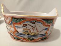 Incredible Quality 18th Century Dutch Delft doré Butter Tub (7 of 10)