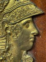 Pair of Interesting 19th Century Gilded Bronze Alexander The Great & Napoleon Cameo Plaques (19 of 29)