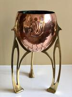 Jugendstil WMF Copper & Brass Jardiniere Planter, Art Nouveau (8 of 11)