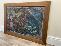 Expressionist Scottish Oil Painting Fishermen Hauling The Nets by Archibald Peddie Glasgow School of Art (30 of 37)